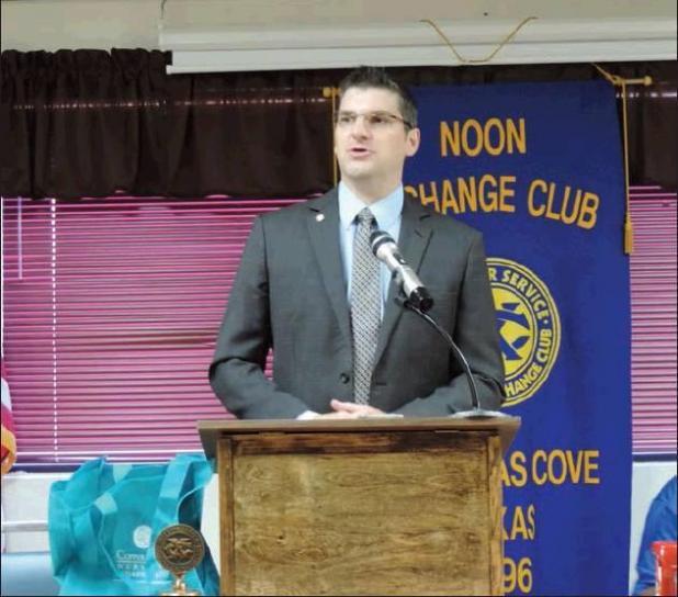 City manager speaker at Noon Exchange Club meeting