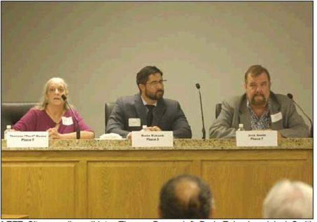 Candidates gather for forum at city council chambers