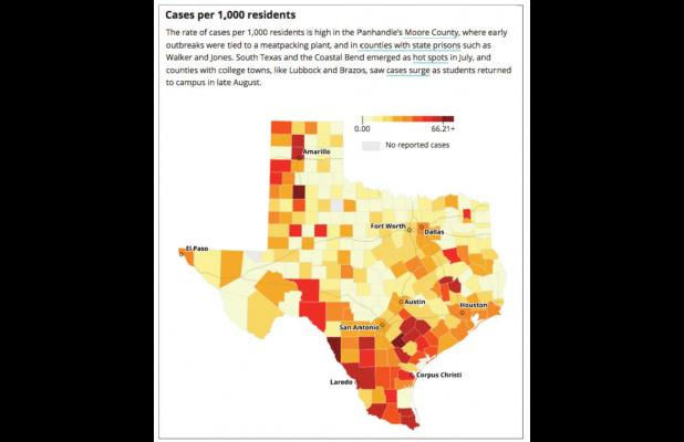 New COVID cases, hospitalizations in Texas plateau after falling from record highs in July